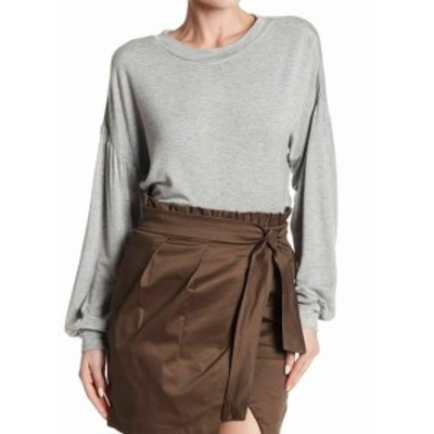 ファッション トップス Socialite NEW Light Gray Womens Size Large L Solid Pullover Sweater