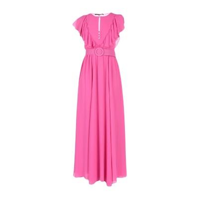 スペース SPACE SIMONA CORSELLINI ロングワンピース&ドレス ピンク 44 ポリエステル 100% ロングワンピース&ドレス