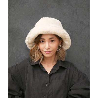 帽子 ハット fur bucket hat