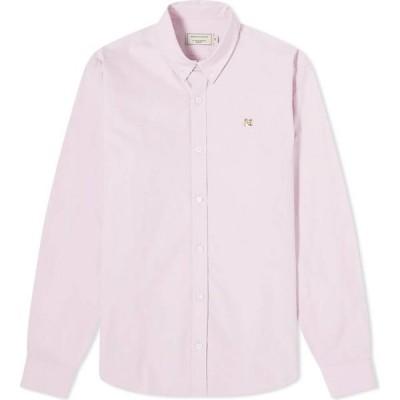 メゾン キツネ Maison Kitsune メンズ シャツ トップス Fox Head Embroidery Classic Shirt Pink