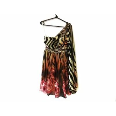 ジーンマクレーン JEAN MACLEAN ドレス サイズ9 M レディース ライトブラウン スパンコール/ビーズ【還元祭対象】【中古】20200708