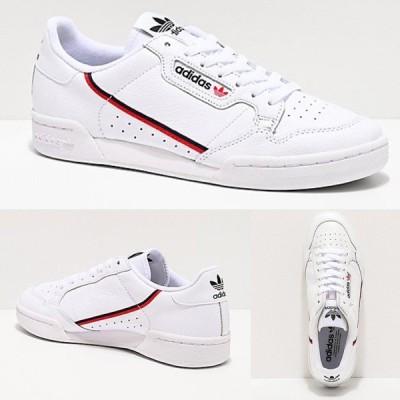 Adidas/アディダス adidas スニーカー メンズ ホワイト Continental 80 White Scarlet & Navy Shoes
