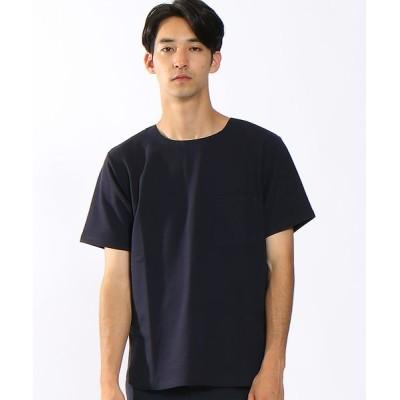 ABAHOUSE/アバハウス ストレッチミニ裏毛圧着Tシャツ(半袖) ネイビー 44
