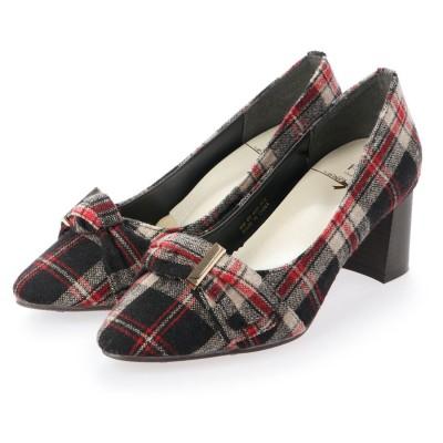 シューズラウンジ shoes lounge パンプス 80BD40334RED-TX (レッド)