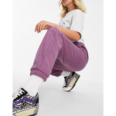 ディッキーズ レディース カジュアルパンツ ボトムス Dickies Mapleton oversized sweatpants in purple Purple