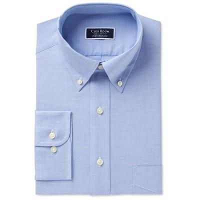 クラブルーム メンズ シャツ トップス Men's Classic/Regular Fit Performance Easy-Care Oxford Solid Dress Shirt