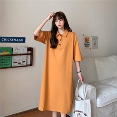 大きいサイズ 韓国 レディース ファッション Tシャツワンピース LL-4L || レディースアパレル ドレス