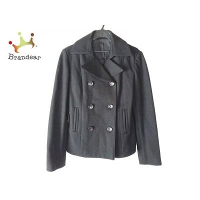 コムサデモード COMME CA DU MODE コート サイズL レディース 黒 ショート丈/冬物     スペシャル特価 20201121