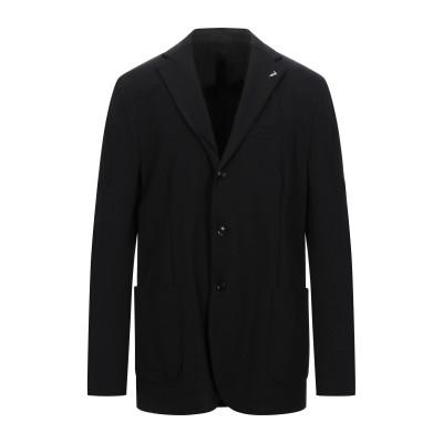 トラサルディ ジーンズ TRUSSARDI テーラードジャケット ブラック 54 レーヨン 69% / ナイロン 25% / ポリウレタン 6% テ