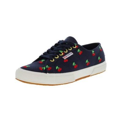 ユニセックスアダルトシューズ スペルガ Superga 2750 Cherries Embroidered Ankle-High Canvas Fashion Sneaker