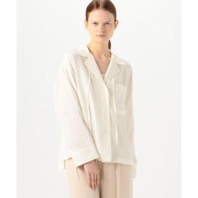 【DES PRES】シルキーポプリン オープンカラーシャツ