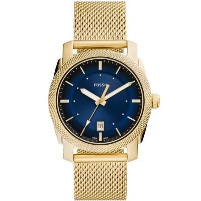 フォッシル 腕時計 アクセサリー メンズ Men's Machine Gold-Tone mesh Bracelet Watch 42mm Gold