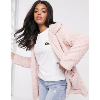 ブレーブソウル レディース コート アウター Brave Soul heavenly teddy coat in pale pink Pale pink