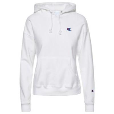 チャンピオン レディース パーカー・スウェット アウター Champion Reverse Weave C Logo Hoodie White
