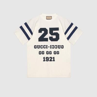 """25 GUCCI"" プリント Tシャツ"