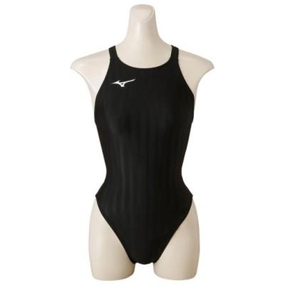 ミズノ 競泳用ミディアムカット[レディース] 09ブラック L スイム 競泳水着 ストリームアクセラ N2MA8222