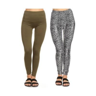 ホワイトマーク レディース カジュアルパンツ ボトムス Women's Leggings - 2 Pack