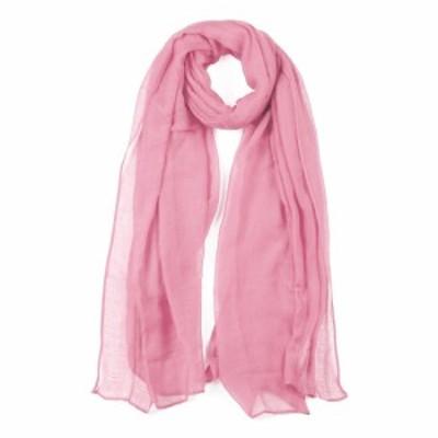 uxcell ショールスカーフ ロング ウォーム ショール 柔らかい スカーフ 男女兼用 ピンク 180x99cm