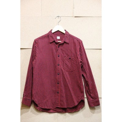 Ahe'hee アヘヘ GinghamCheck Flannel Shirt M REDxBLK マチ AHWS