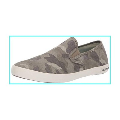 SeaVees Men Baja Slip On Saltwash Sneaker, sage camo, 9 M US