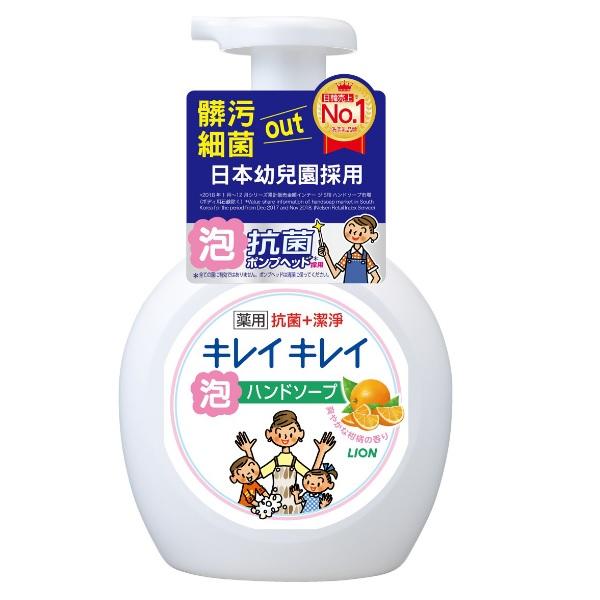 日本獅王趣淨洗手慕斯 清爽柑橘 250ml