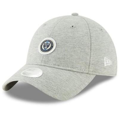 レディース スポーツリーグ サッカー Philadelphia Union New Era Women's Preppy Team 9TWENTY Adjustable Hat - Heathered Gray - OSFA