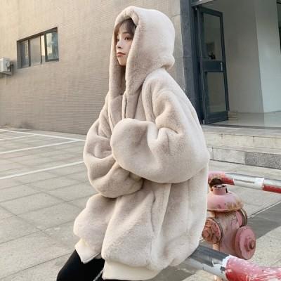 ファーコート ボアジャケット アウター ボア ブルゾン ふわふわ 防寒コート 冬 ゆったり 暖かい 送料無料