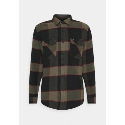 ブリクストン シャツ メンズ トップス BOWERY - Shirt - black/olive