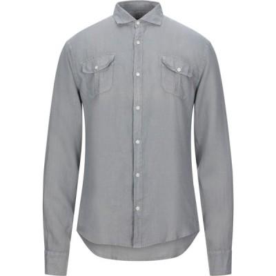 トラサルディ TRUSSARDI JEANS メンズ シャツ トップス linen shirt Grey