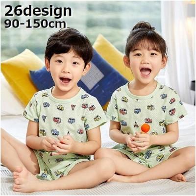半袖カットソー パジャマ ジュニア 上下セット 子供服 キッズ 男の子 女の子 ショートパンツ 部屋着 メッシュ