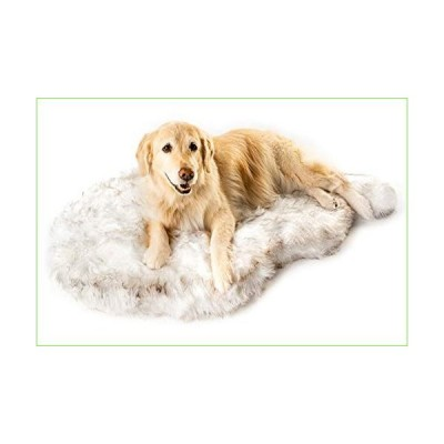 Puprug Faux Fur Memory Foam Orthopedic Dog Bed, Premium Memory Foam Base, Ultra-Soft Faux Fur Cover, Modern and Attractive Design (Giant - 6