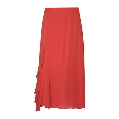 8 by YOOX 7分丈スカート 赤茶色 42 レーヨン 100% 7分丈スカート