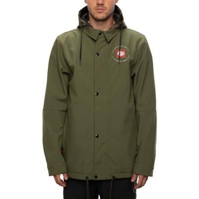 シックス エイト シックス 686 メンズ ジャケット コーチジャケット アウター waterproof coaches jacket Surplus Green