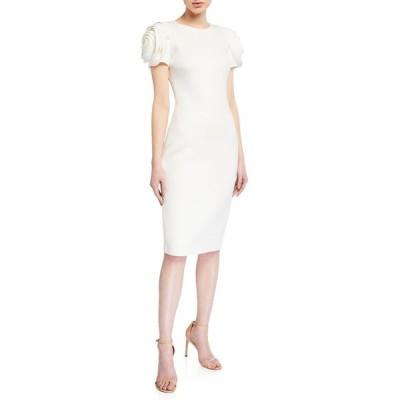 バッドグレイミッシカ レディース ワンピース トップス Rosette-Sleeve Sheath Dress