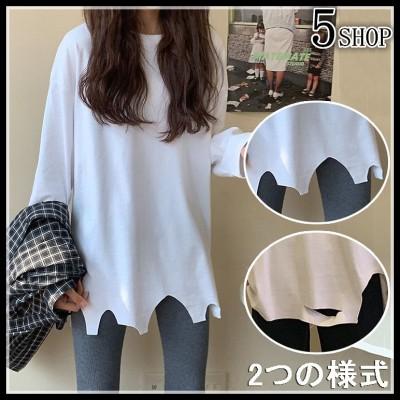 [55555SHOP]春新規商品❕极度肉を遮ってスタイル  百掛け トップス 通気性抜群で、心地よい穿き心地を提供❣ゆったり シンプル Tシャツ 誰もが似合う T-shirt