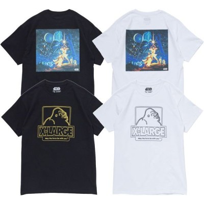 XLARGE(エクストララージ) S/S TEE MAY THE FORCE BE WITH YOU/STAR WARS
