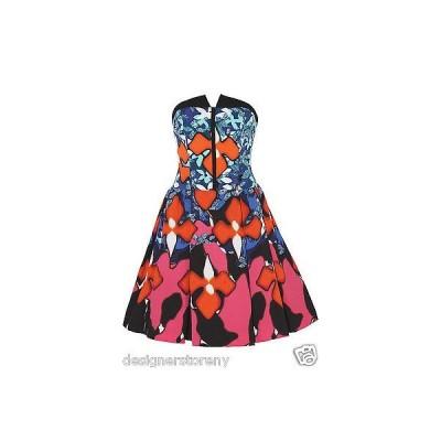 ドレス サイモンセバグ Peter Pilotto Target Jacquard Strapless floral-print stretch-matelass? dress 2