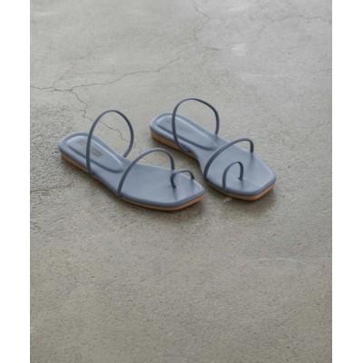 RETRO GIRL / square toe tong sandal WOMEN シューズ > サンダル