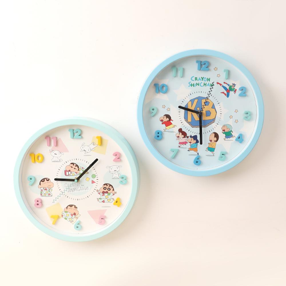 【正版授權】蠟筆小新靜音時鐘