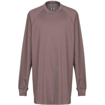 リック オウエンス RICK OWENS スウェットシャツ ライトブラウン S コットン 100% スウェットシャツ