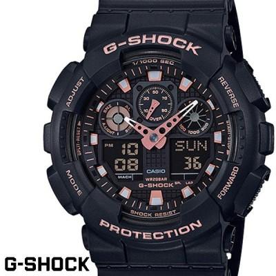 G-SHOCK カシオ Gショック GA-100GBX-1A4 ブラック ローズゴールド CASIO G−SHOCK ジーショック 腕時計 アナデジ うでどけい