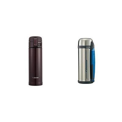象印 水筒 直飲み ステンレスマグ 480ml ボルドー SM-KC48-VD & 水筒 ステンレス コップ タイプ ハンドル 付き 広口