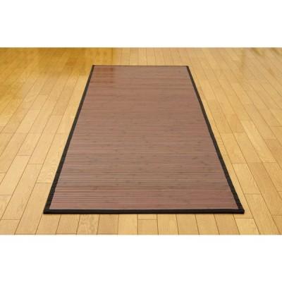 糸なしタイプ 竹の廊下敷 『ユニバース』 ダークブラウン 80×240cm[13]