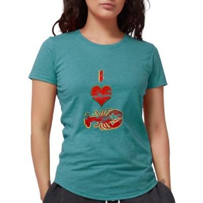 レディース 衣類 トップス CafePress - Vintage I Heart Lobster T Shirt - Womens Tri-blend T-Shirt グラフィックティー