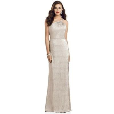 ドレッシーコレクション レディース ワンピース トップス One-Shoulder Metallic Gown