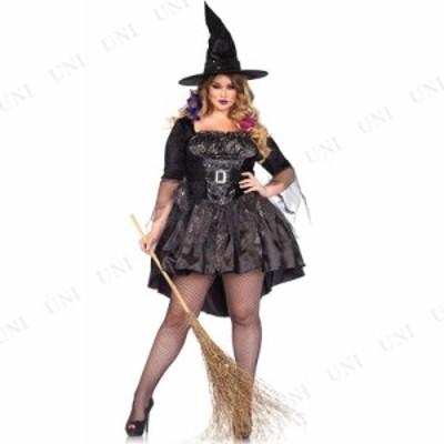 コスプレ 仮装 ブラックスパンコールウィッチ 1X-2X コスプレ 衣装 仮装 ハロウィン 大人用 コスチューム 女性 魔女 大きいサイズ 魔法使