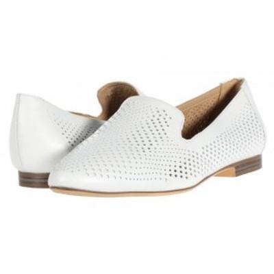 Naturalizer ナチュラライザー レディース 女性用 シューズ 靴 ローファー ボートシューズ Lorna White Pebbled Leather【送料無料】