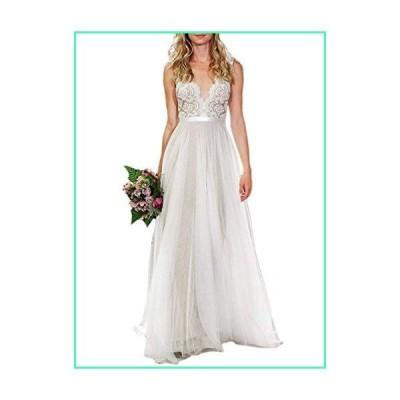 OYISHA Sweetheart A-line Beaded Wedding Dress Appliqued Tulle Bride Gown WD23 Champagne 18W並行輸入品