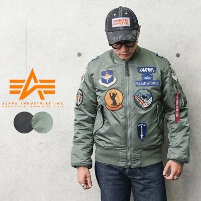 """ALPHA アルファ TA0197 MA-1 フライトジャケット JAPAN FIT""""FULL PTACHED"""" パッチ付き メンズ ミリタリージャケット アウター ジャンバー"""