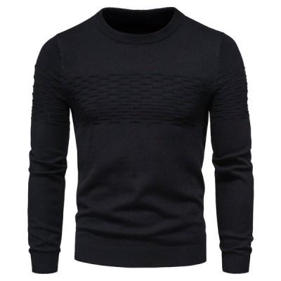 ニットセーター メンズ セーター 長袖 トップス 無地 秋 春 メンズ ニット 新作 シンプル カジュアル